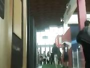 Candid camera upskirts op openbare plaatsen