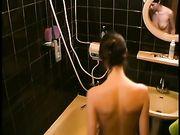 Vrouw zag in de douche