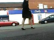 Naakt meisje in openbare plaatsen