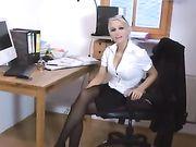 Anale seks met een sexy blonde Duitse vriendin