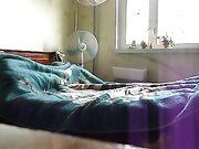 Seks met zijn sexy vrouw in bed