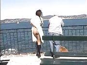 Naakte vrouw op openbare plaatsen