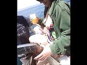 Amateursex op een boot met een vrouw