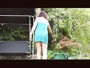 Voyeur camera spioneren op de buurvrouw